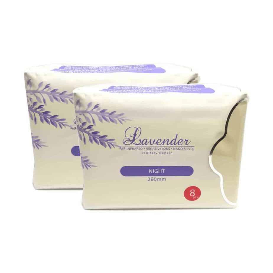 Lavendar Sanitary Pad for Night X2